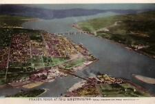 Photo. ca 1944. New Westminster, BC Canada. Sky view of Fraser River