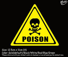 POISON SIGN Reflective Warning Car  Truck Boat  Wall Stickers Decals best gift