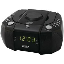 Jensen Jcr-310 Dual Alarm Clock Am/Fm Stereo Radio With Top Loading Cd Player JE