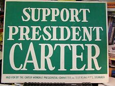 SUPPORT PRESDIENTCARTER -  POLITICAL POSTER - EXCELLENT