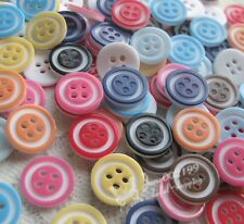 100x Mini 12mm Plastic Buttons Sewing/Appliques/Baby's Crafts Lots Color NK017