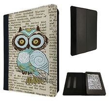 Cute Owl Vintage newspaper Fashion Case Flip cover For Kindle Paperwhite 6''