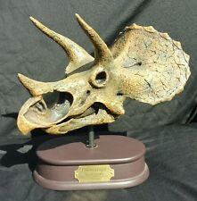 FOSSIL DINOSAUR TRICERATOPS SKULL 1/10 SCALE RESIN MODEL