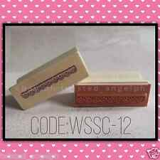 Stamp/Wooden Stamp/Wood Mounted Rubber Stamp [Code: WSSC-12]