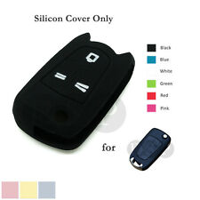 Silicone Cover fit for Opel OPEL VAUXHALL SATURN Flip Remote Key Case Shell BK