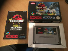 Super Nintendo SNES Boxed Complete Jurassic Park Part 2 The Chaos Continues