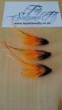 """3x cascade pot belly cochon 1/4"""" tube en cuivre salmon fishing flies envoi gratuit"""