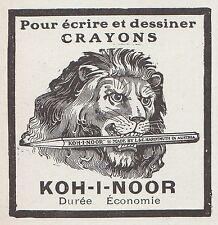 PUBLICITE  CRAYON DE BOIS KOH I NOOR  PENCIL LION   AD  1913 - 1H