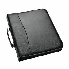 A4 Black Deluxe Executive Conference Folder With Calculator Portfolio -CL-210