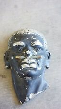 Cast Aluminium African Man with Nose Piercing Wall Hanging Art Deco Vintage