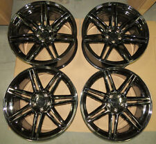"Set of (4) 2005-14 Mustang Niche Lucerne Black Chrome Wheels 20""x9""/20""x10"""
