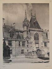 """""""BOURGES Hôtel de Jacques-Coeur"""" Héliogravure HERBERT/ Photo Marcel BOVIS (1949)"""