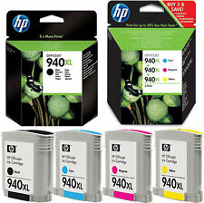 4x HP 940XL ORIGINAL DRUCKER PATRONE OFFICEJET 8000 8500A PLUS WIRELESS PRO W
