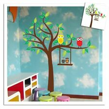 Q0023 Cute Owl Tree Wall Stickers Decor Art Mural Decal Kids Nursery