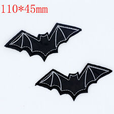 DIY Black bats pattern Embroidered Iron On Patches Clothes Appliques Sew Crafts