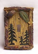 Pine Tree Single Light Switch Cover Rustic Home & Cabin Decor (NCD)