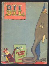 Bil e l'elefante ladro Scene comiche di Manzi illustratore  Carroccio  anni 40