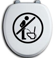Im Sitzen pinkeln WC Deckel Toilettendeckel Bad Klo Aufkleber Sticker urinieren