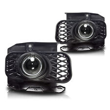 99-03 Ford F150 Clear Halo Projector Fog Lights Front Driving Lamps PAIR