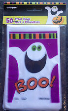 50 x HALLOWEEN Ghost BOO Loot bags Treat Bags Party bags trick or treat FREE P&P
