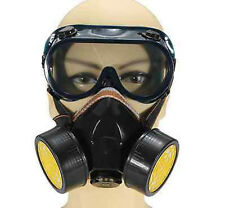 Emergency Survival Safety Respiratory Gas Mask & 2 Dual Protection Filter&Glass