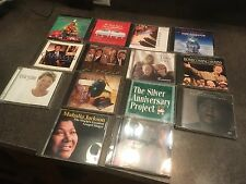Lot of 14 Music CDs- Spiritual, Religious, Gospel, Hymns, Christmas, Gaither