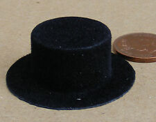 1:12 Scale Black Cordoba Hat Dolls House Miniature Clothing Accessory