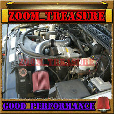"""BLACK RED 1998-2003 CHEVY S10 ZR2/XTREME/HOMBRE/SONOMA 2.2L COLD AIR INTAKE 3"""""""