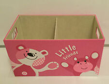 FAUX LEATHER PINK LARGE CLOTHES LAUNDRY BEDDING TOY STORAGE BOX CHILDRENS