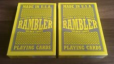 Ramblers (Red & Blue) Gold Gilded Poker Playing Cards By USPCC (OHIO) New Sealed