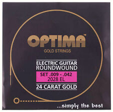 OPTIMA 24 Carat Gold Electric Guitar Strings | 2028EL 2028 EL | .009-.042
