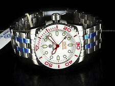 New Deep Blue 45mm Sea Ram Automatic White/Red 500M Sapphire Crystal SS Watch