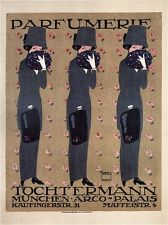 Parfumerie Tochtermann, 1910 Ludwig Hohlwein Vintage Advertising CANVAS 24x31 in