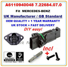 MERCEDES-BENZ Mass Air Flow meter Sensor A6110940048 7.22684.07.0 QUALITY PARTS