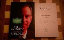 John McEnroe Tapa Dura 2002 firmado graves autobiografía 1st edición 1st impresión