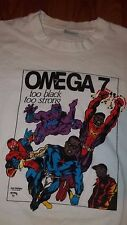 Vintage SUPERHERO African American OMEGA 7 Comic Book T-Shirt Large