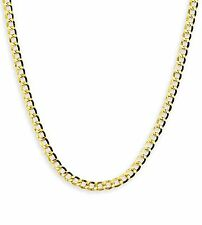 "14k Yellow Gold Cuban Curb Link Necklace Chain 24"" 3.6mm"