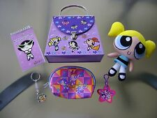 Vintage Powerpuff Girls Purse Tin, Note Pad, Bubbles, Keychains & Coin Purse 6PC