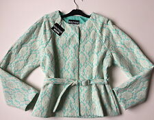 NEW STOCK ! MOSCHINO BELTED LACE JACKET £417- NEW