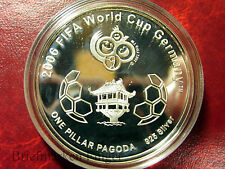 2006  Vietnam Large Silver Proof $100 Soccer(Football)  World Cup