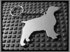 KEYRING DOG - SPANIEL - STAINLESS STEEL - HAND MADE - CHAIN LOOP KEY FOB
