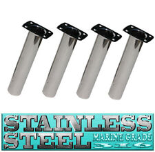 4 X 316 MARINE GRADE STAINLESS STEEL STRAIGHT FISHING ROD HOLDER BOAT #99038