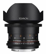 Rokinon DS 14mm T3.1 ED AS IF UMC Full Frame Cine Wide Angle Lens for Canon EF