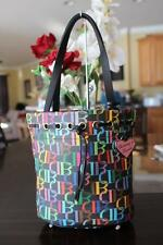 Dooney and Bourke 'DB' Multi Color Black Bucket Tote Bag (PU4000