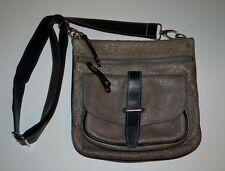ROOTS LEATHER SIDE SADDLE TRIBE CROSS BODY BAG  MADE IN CANADA