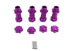 1Set Alloy 17mm Wheel Hex Hub Extension Adapter 30mm Purple for 1:8 Scale RC Car
