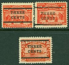 NEWFOUNDLAND : 1920. Scott #128-30 VF, Mint OG LH. Very Fresh set. Catalog $260.