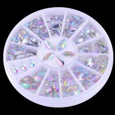 1Box Nail Art Shiny Oval Rhinestone Acrylic UV Gel 3D Decoration 3*6mm/4*8mm