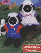 Crochet Pattern ~ LAMB DOLLS Ewes Stuffed Animal Kids Toy Easter ~ Instructions