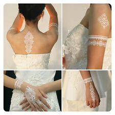 1pcs White Temporary Flash Lace Ink Henna Tattoo Inspired Body Makeup Sticker